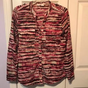 Calvin Klein Womens Top XS Button Up Long Sleeve